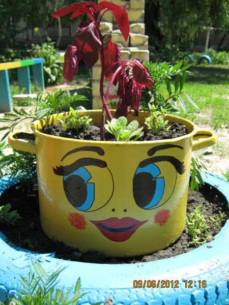 Кастрюли для дачи сада своими руками