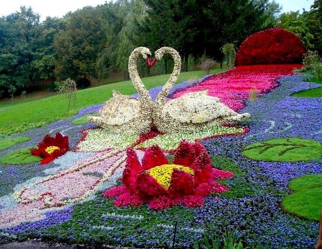 Ландшафтный дизайн из цветов
