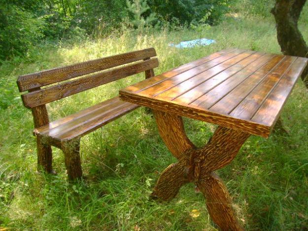 Столы скамейки для дачи из дерева своими руками