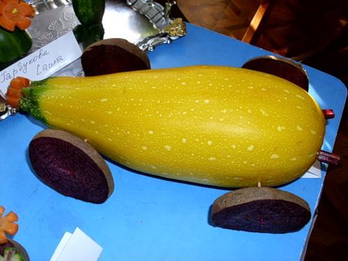 Поделки из желтого кабачка